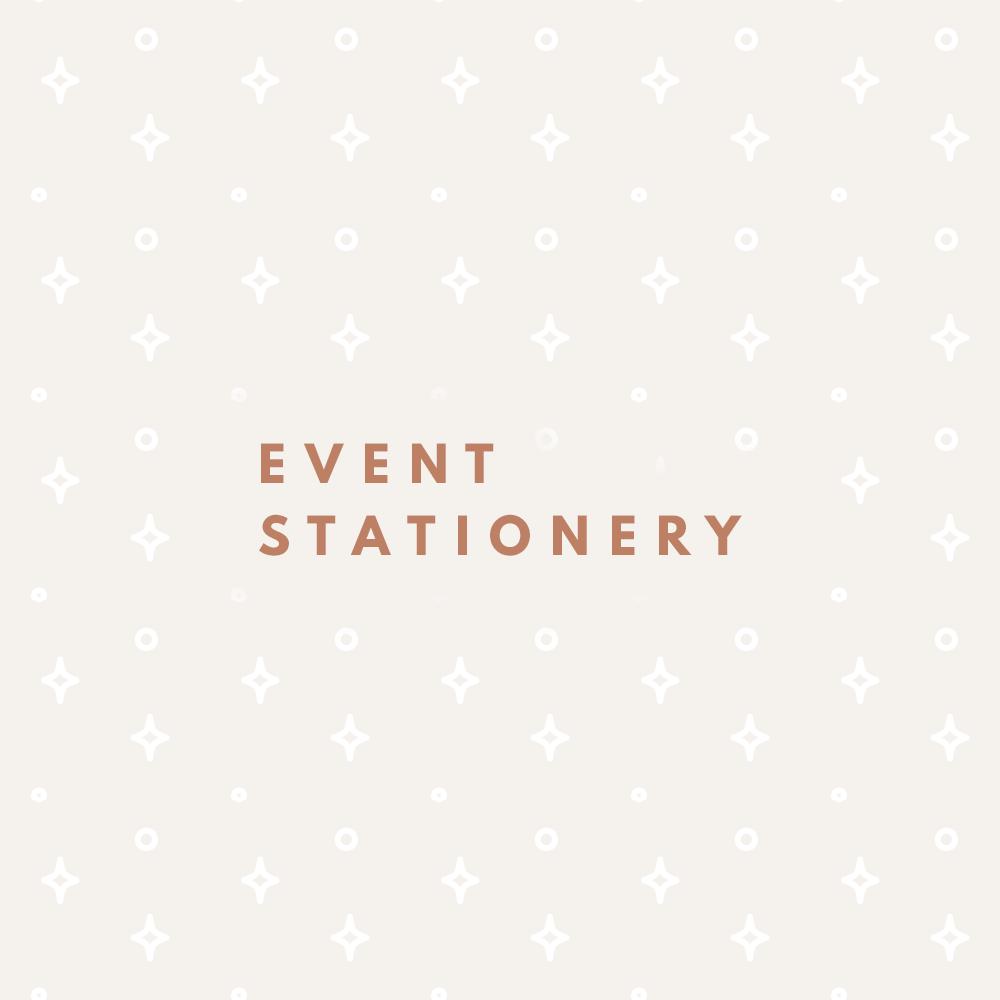 event stationery - miel café design