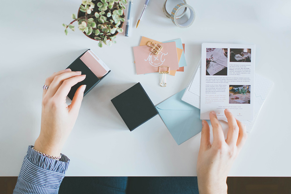 Contattami per Stationery Per Brand Biglietti Da Visita Personalizzati - Miel Café Design
