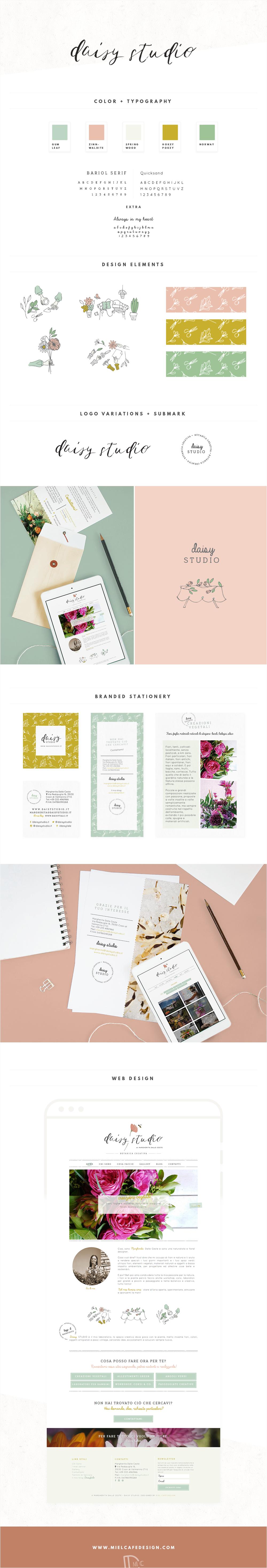 Daisy Studio Brand e Web Design - Miel Café Design