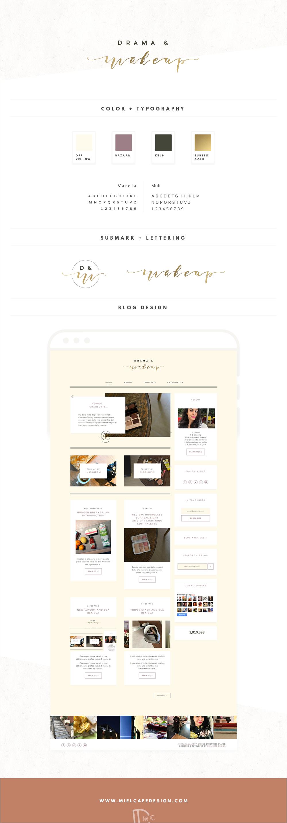 Drama & Makeup Blog Design Personalizzato