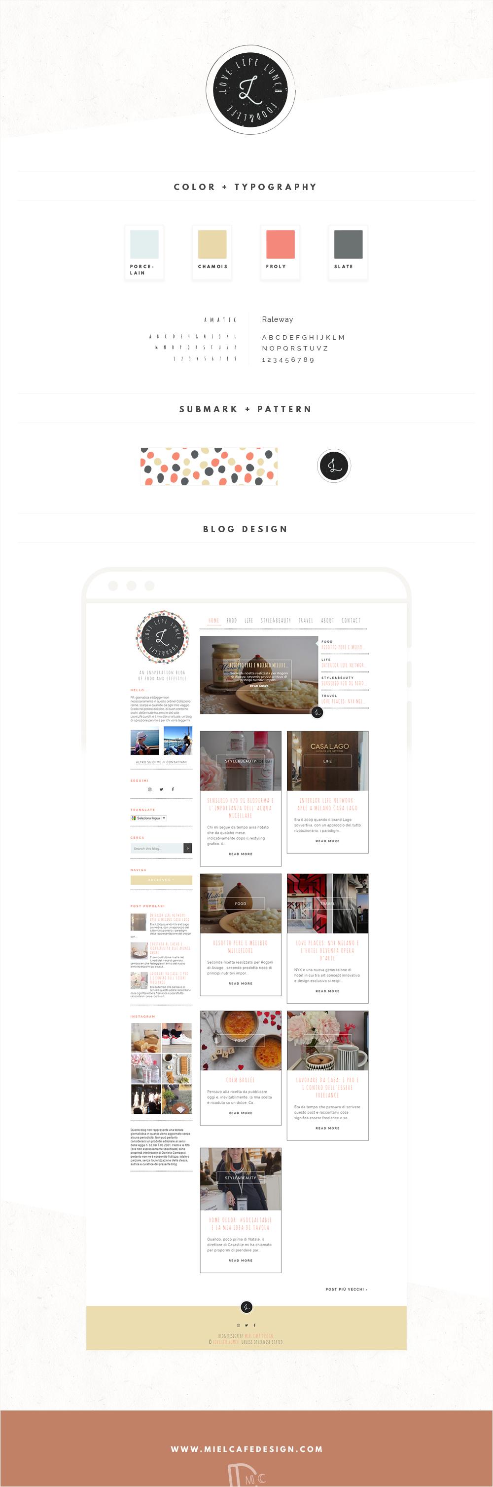Love Life Lunch Custom Blog Design - Miel Café Design
