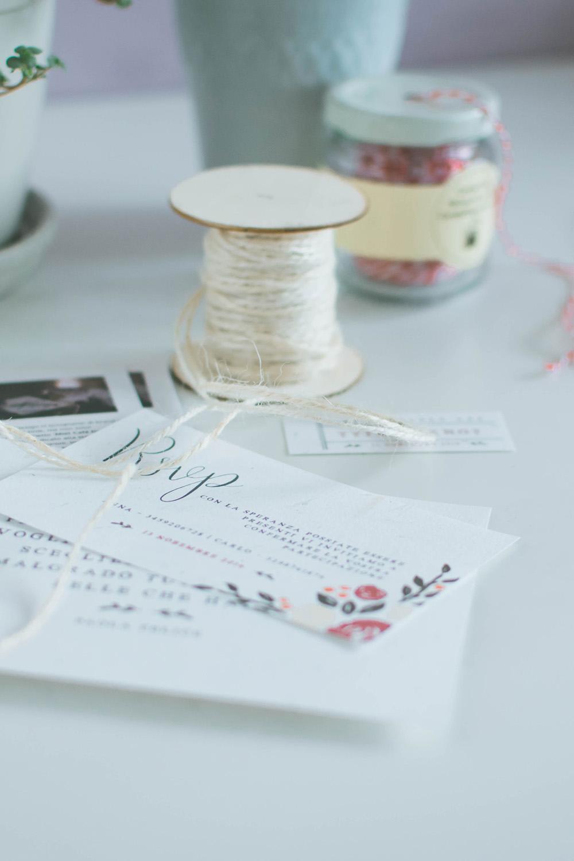 Pacchetto Stationery e Stampe Eventi, Partecipazioni Matrimonio - Miel Café Design