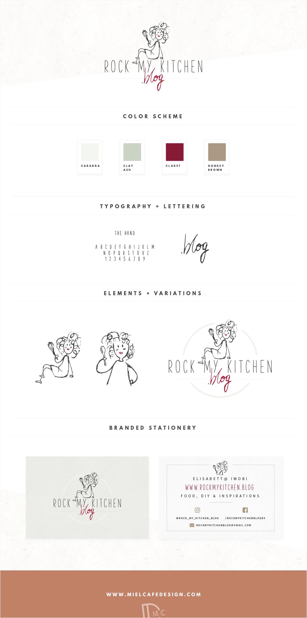 Rock My Kitchen Brand Identity Design Biglietti Da Visita Personalizzati