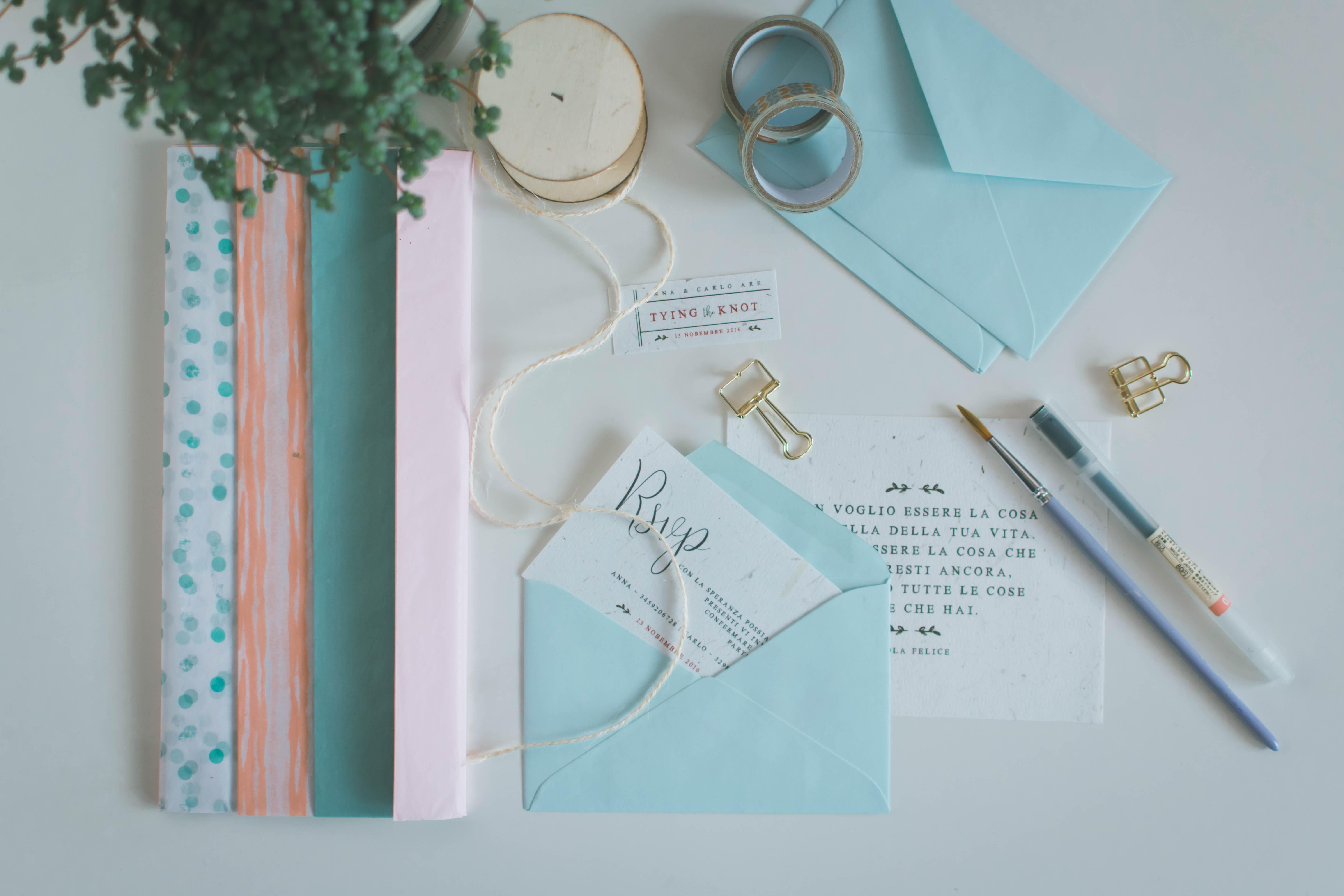Servizio di Stationery e Stampe Eventi, Partecipazioni Matrimonio - Miel Café Design