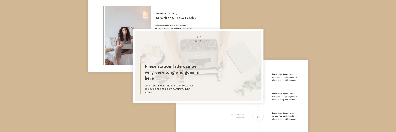 Miel Café Design Portfolio: Template slide presentazione per UX Writer Serena Giust