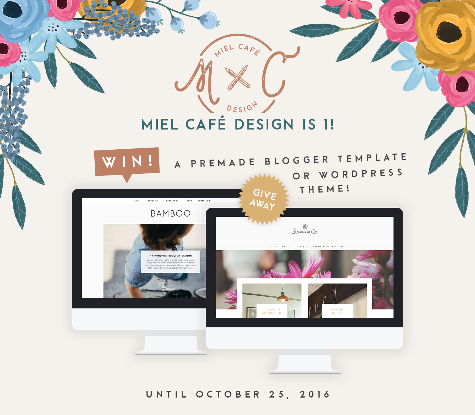 Miel Café Design First Birthday Giveaway!