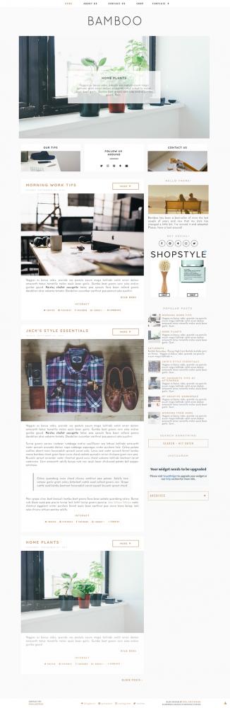 Blogger Templates Archives - Miel Café Design