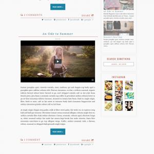 Chestnut Semi-Custom Blogger Template