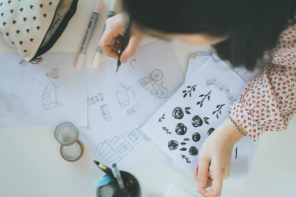 Contact Me Custom Logo Design - Miel Café Design