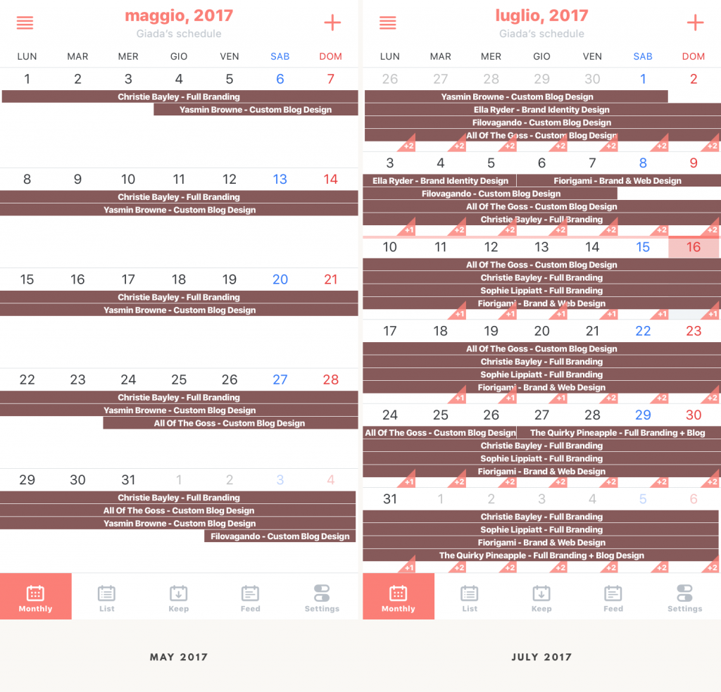 Branding My Business: Client Booking Schedule