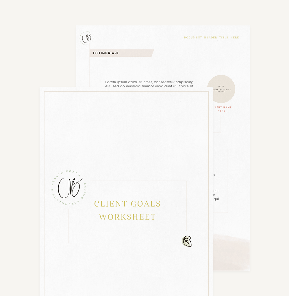 Branding And Website For Health Coach Christie Bayley - Document Template