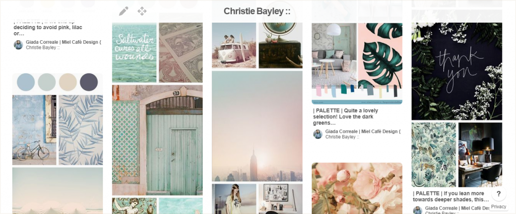 Branding And Website For Health Coach Christie Bayley - Inspiration Board
