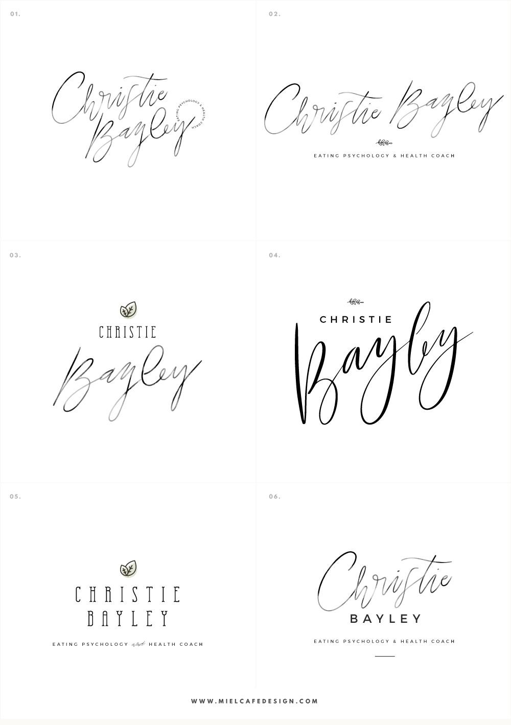 Branding And Website For Health Coach Christie Bayley - Logo Alternatives