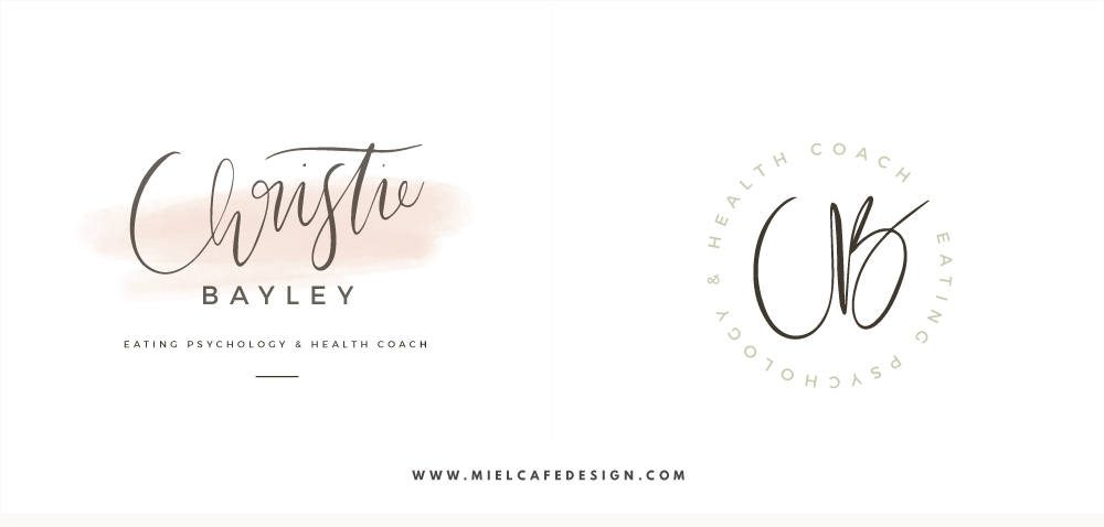Branding And Website For Health Coach Christie Bayley - Final Logo and Submark