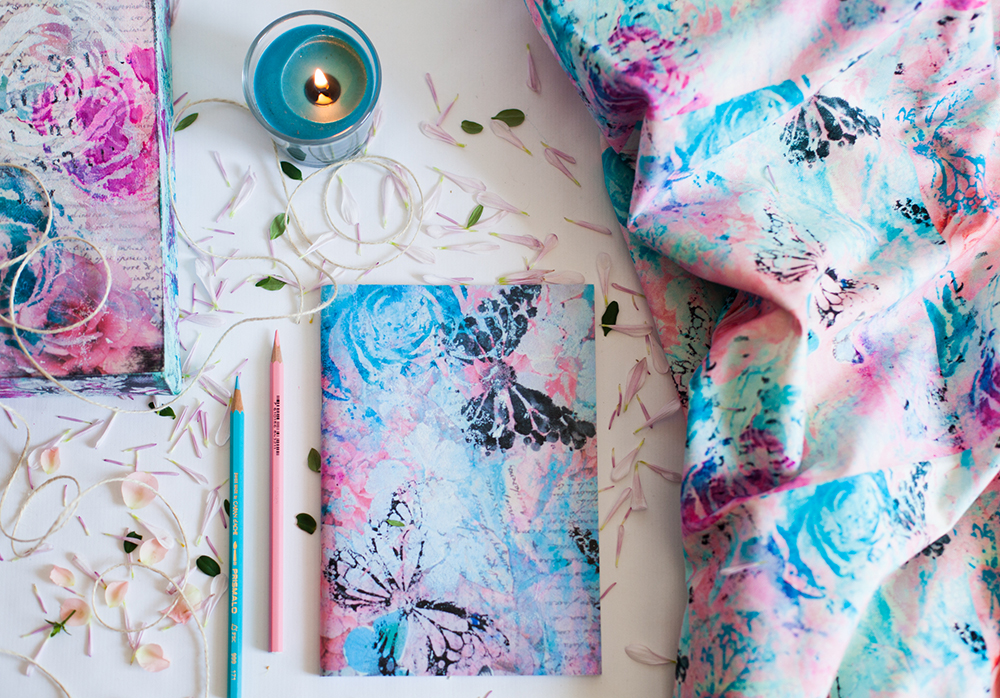 Make art usable & wearable - stationery Valeria Rosa e Turchese