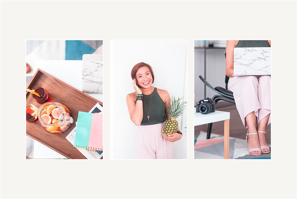 Branding & Website for Storyteller The Quirky Pineapple Studio Coordinated Brand Photography