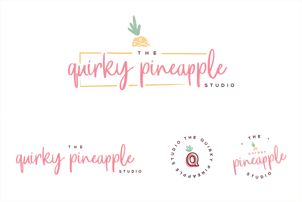 Branding & Website for Storyteller The Quirky Pineapple Studio Logo Designs and Submarks