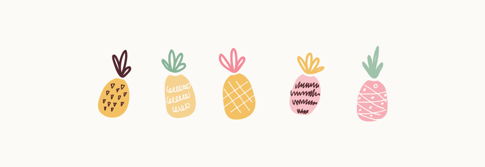 Branding & Website for Storyteller The Quirky Pineapple Studio Illustrated Elements