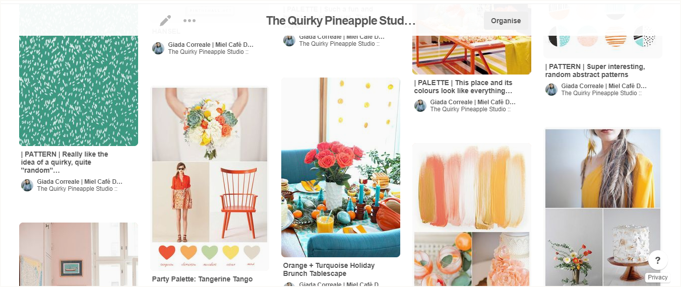 Branding & Website for Storyteller The Quirky Pineapple Studio Pinterest Inspiration Board