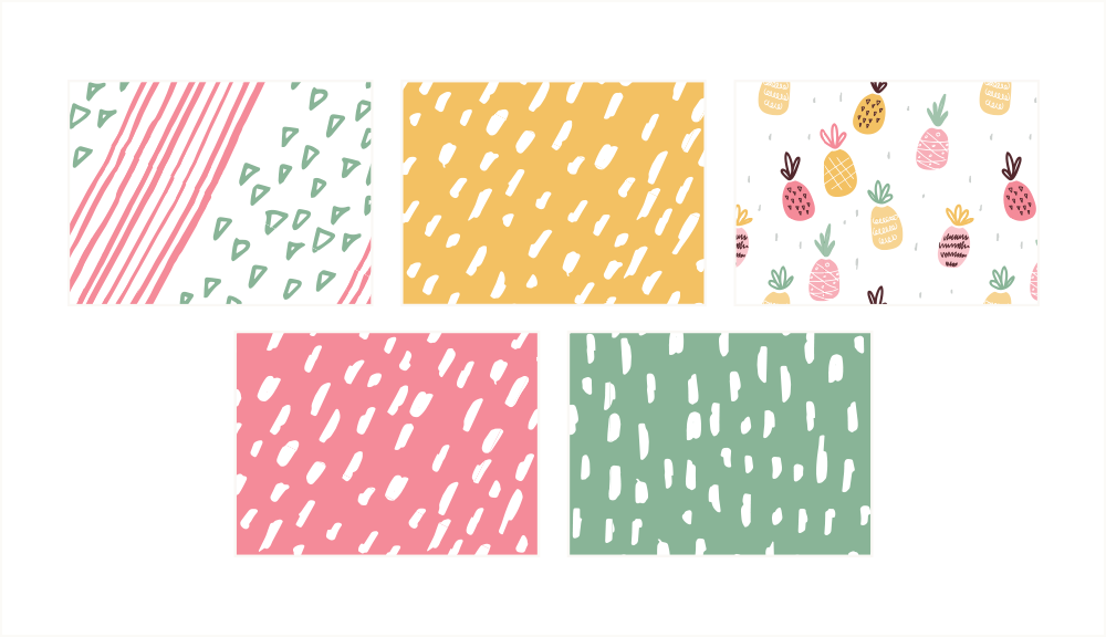 Branding & Website for Storyteller The Quirky Pineapple Studio Patterns