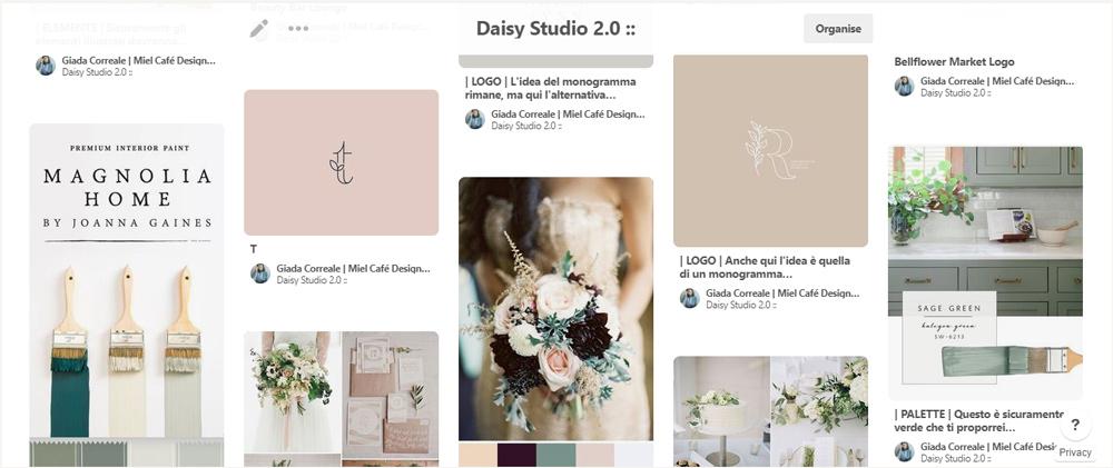 Rebranding For Floral Designer Daisy Studio Pinterest Inspiration Board