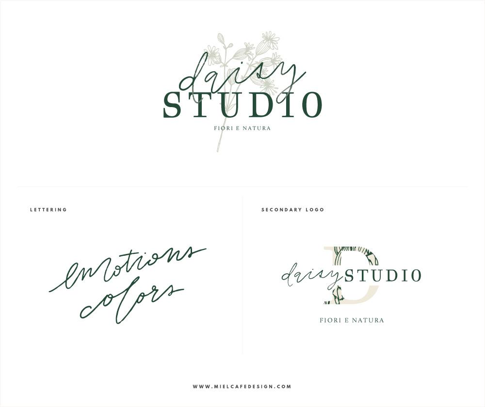 Rebranding For Floral Designer Daisy Studio Logo Variations Lettering