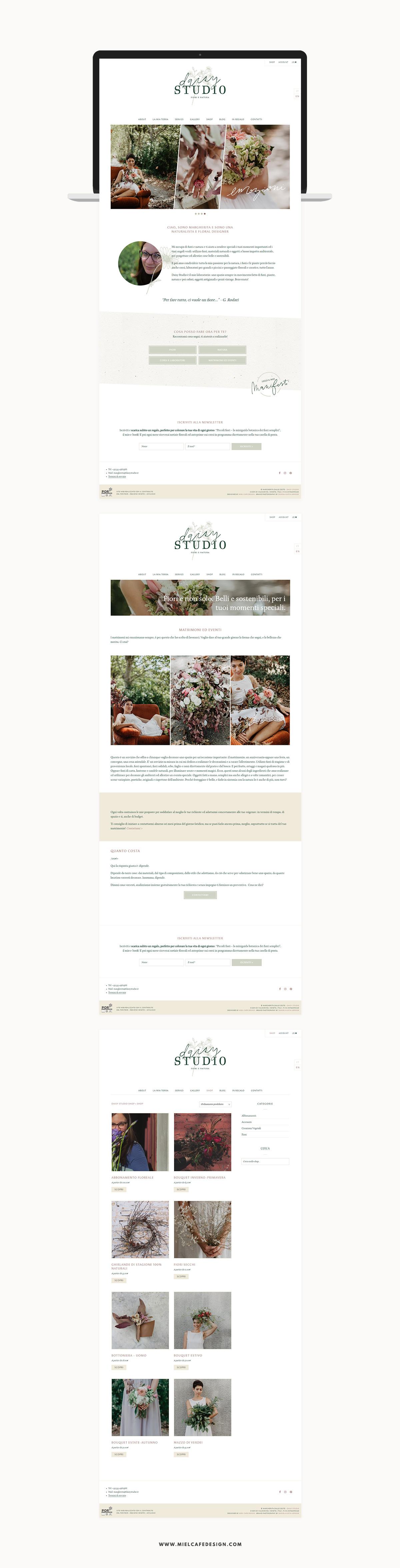Rebranding For Floral Designer Daisy Studio Web Design Website Shop Preview