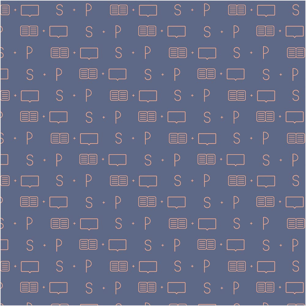 Portfolio: Branding For Social Media Manager SoPress Branded Pattern - Miel Café Design