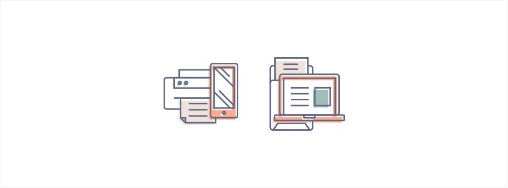 Portfolio: Branding For Social Media Manager SoPress Illustrated Elements Digital Icons - Miel Café Design