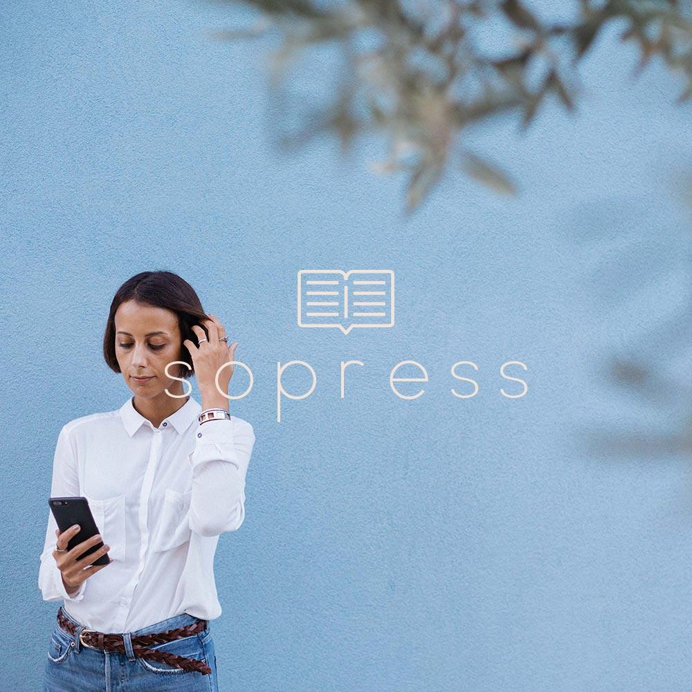 Portfolio: Branding For Social Media Manager SoPress Logo Design - Miel Café Design