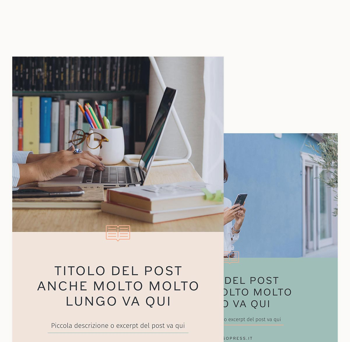 Portfolio: Branding For Social Media Manager SoPress Social Media Branding Blog Posts Templates - Miel Café Design