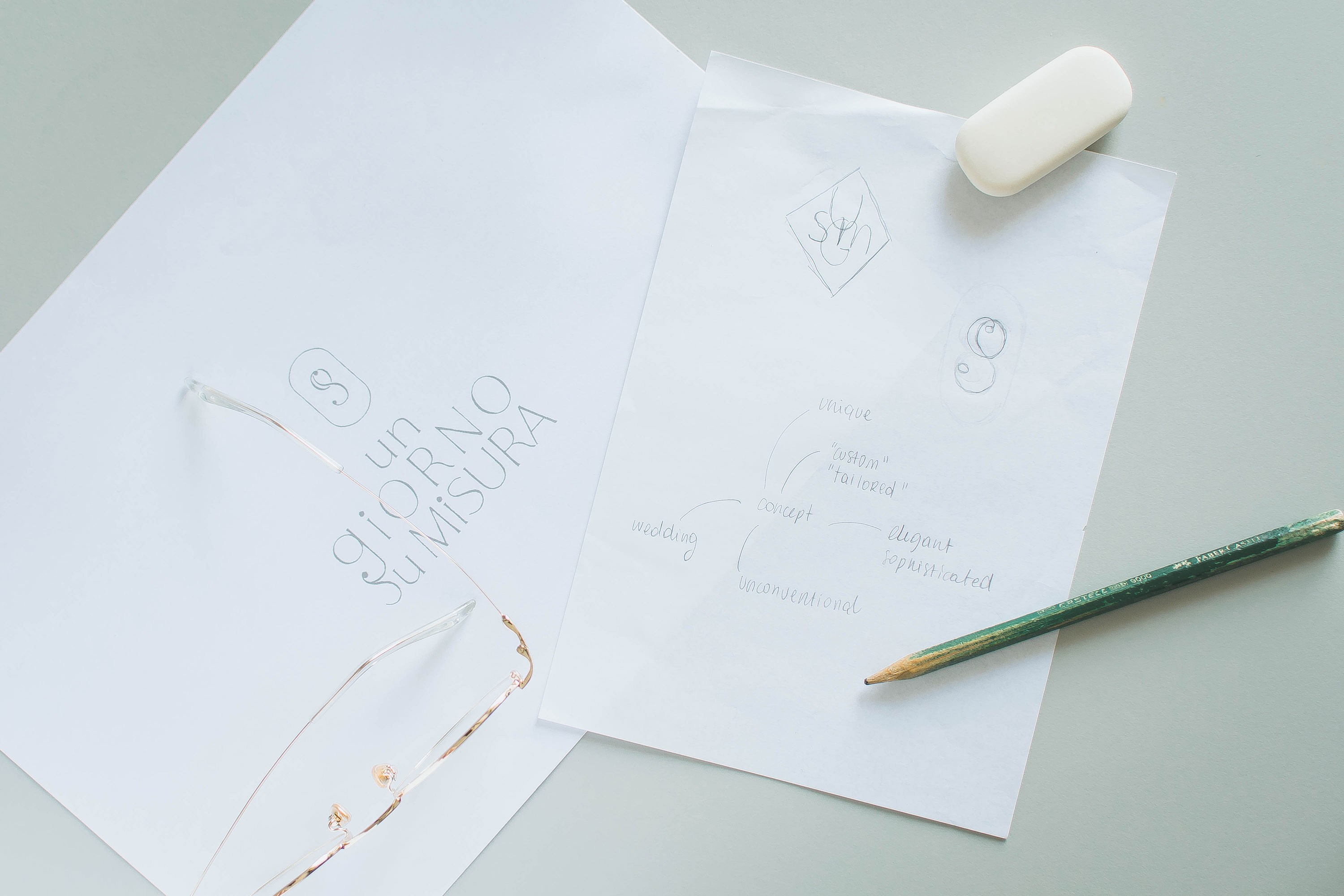 Miel Café Design Portfolio: Handmade Illustrations for Un Giorno Su Misura wedding planner