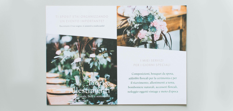 Miel Café Design Portfolio: 1 Fold brochure for Daisy Studio floral designer
