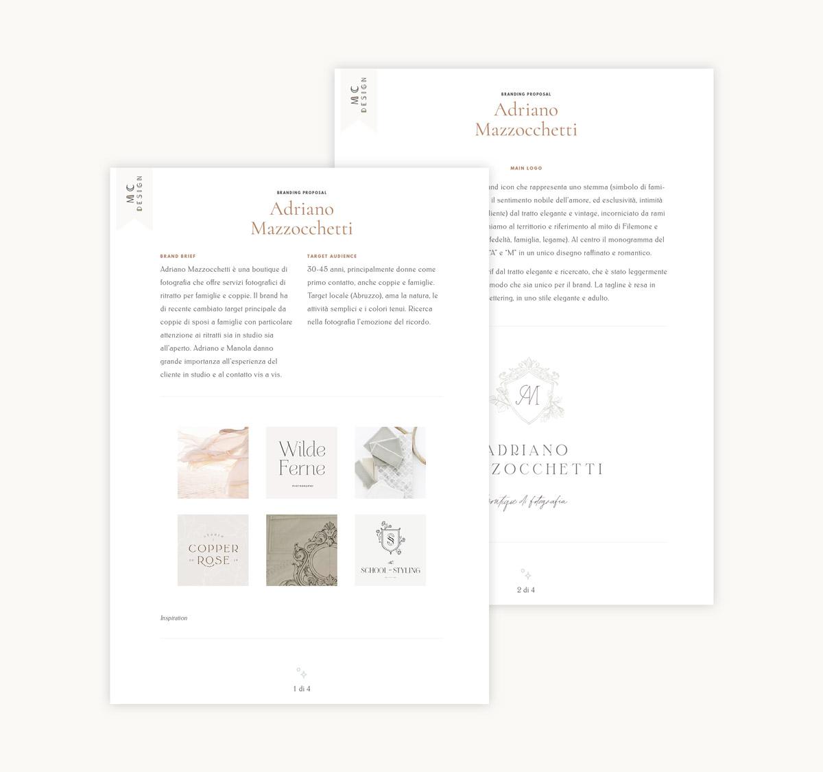 Behind-the-scenes of my logo design process presentation - Miel Café Design