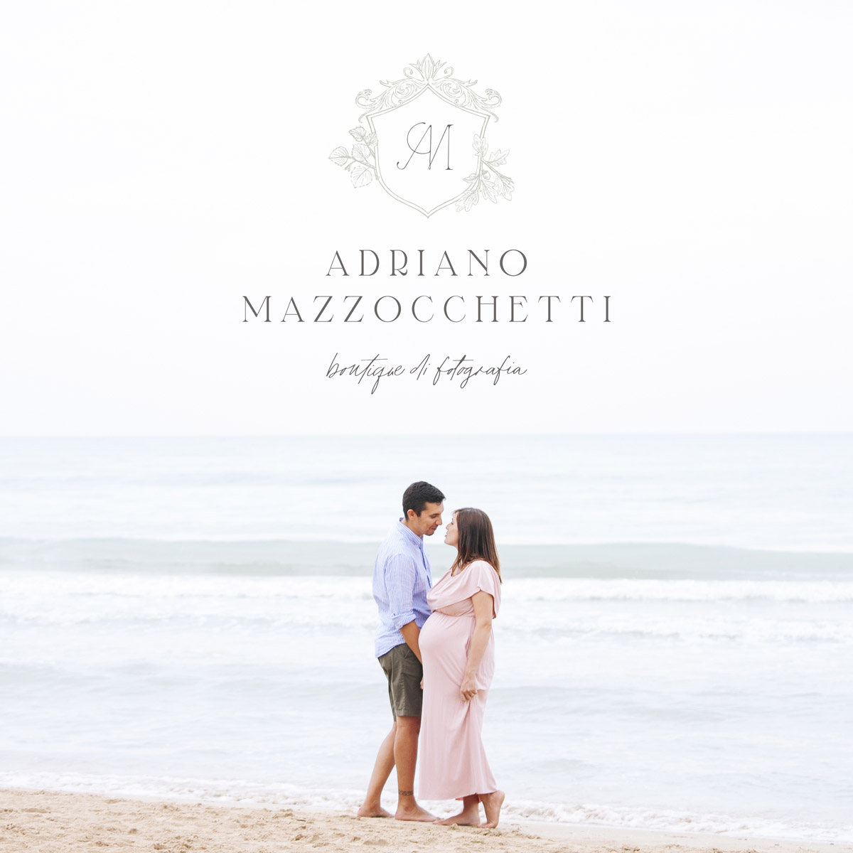 Behind-the-scenes of my logo design process. Logo design and variations for Adriano Mazzocchetti wedding and portrait photographer - Miel Café Design