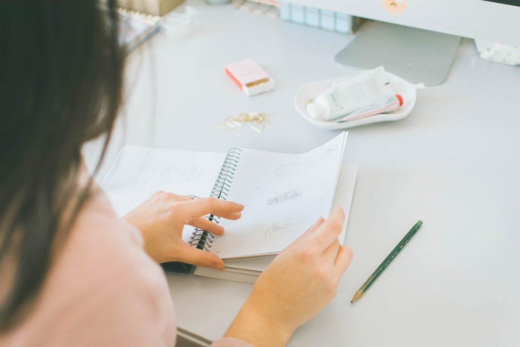 Behind-the-scenes of my logo design process sketchbook - Miel Café Design