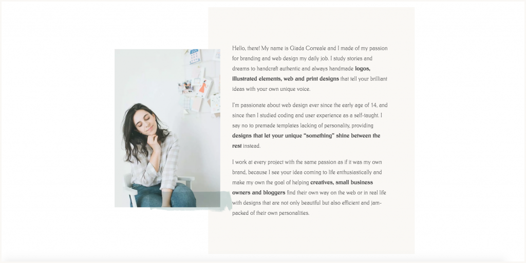 Anatomy of the perfect about page: website about me example for small businesses  portrait photo