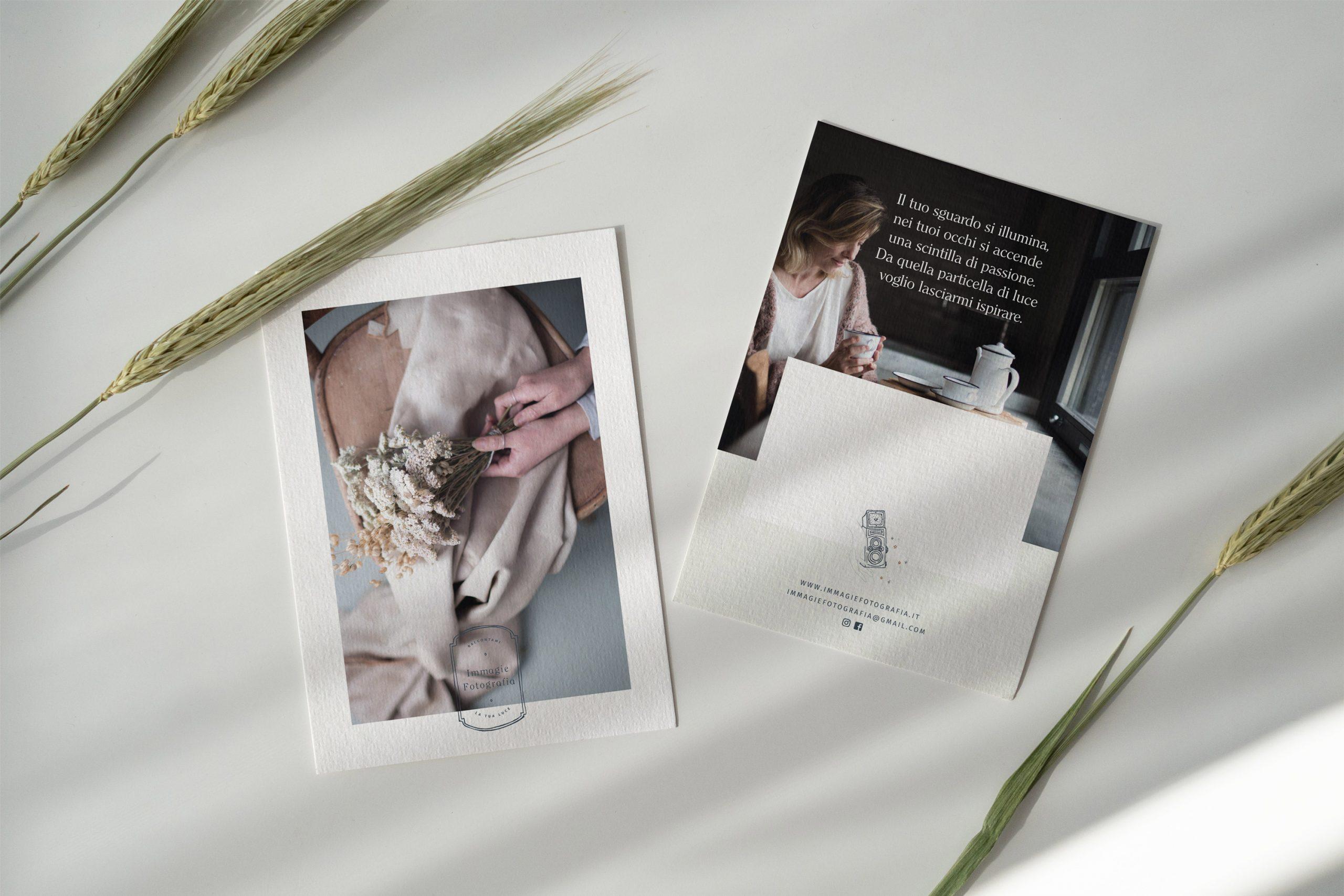 Miel Café Design Portfolio: cartoline di ringraziamento A6 design personalizzato per Immagie Fotografia Fotografa per creativi