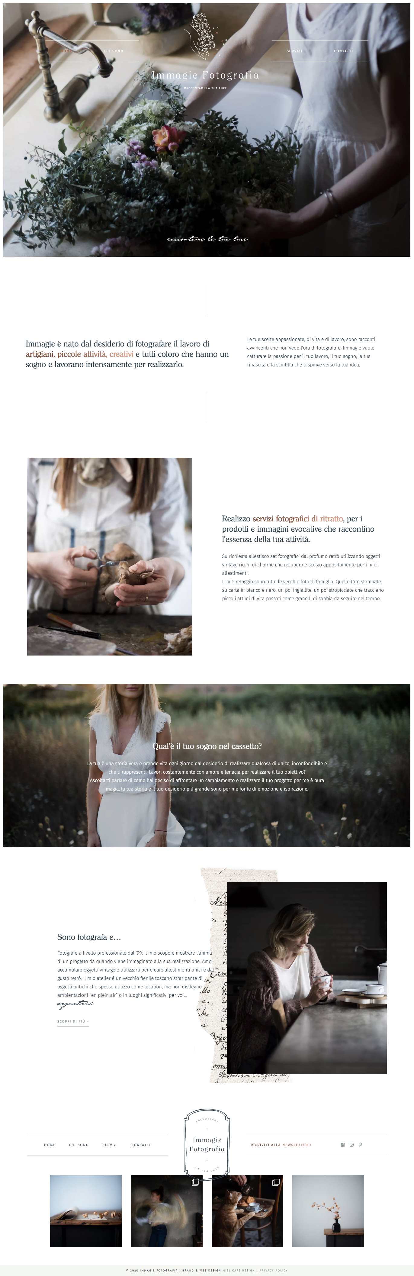 Miel Café Design Portfolio: web design per Immagie Fotografia Fotografa per creativi